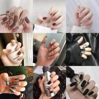 False Nails Artificial Full Covers Elegant Manicure Salon Finger Art Decorations