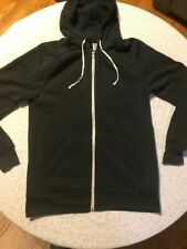 Alternative earth charcoal full zip tri blend sweatshirt size L