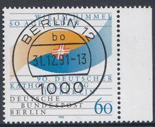 Berlin Einzelmarken aus 1980 bis 1990 mit zentralem Vollstempel Berlin (VB-11)
