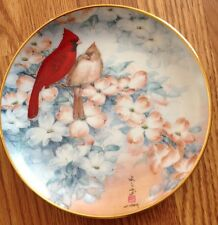 Cardinals And Dogwood Blossoms Franklin Mint John Cheng Collector Plate