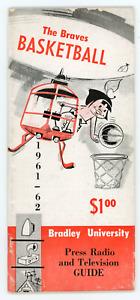 1961-62 Bradley University Basketball Media Guide, press, radio, tv information