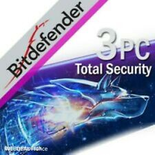 Bitdefender Total Security 2021 ✅ 3 PC ✅ 3 Appareils / Devices ✅ 1 An / Year