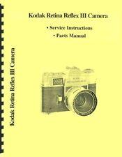 Kodak Retina Reflex Iii Camera Service & Parts Manual Reprint