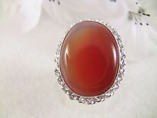 Women's Ring Size 6.75 Oynx Gemstone Sterling Silver Over Copper Jewelry Gift
