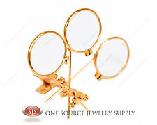 15X Loopy Loupe Triple Lens Power Magnifers Magnifying Glass Clip On Glasses
