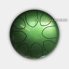 "9"" Steel Tongue Drum/Hank Drum (Bag included)-C Major Natural Scale Green"