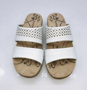 BareTraps Women's Jimina Casual Slide Sandals White Size US 6M        # Q-10