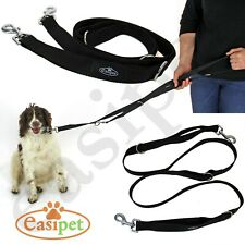 More details for dog lead police style leash multi-function double ended obedience training