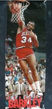 RARE CHARLES BARKLEY 76ERS 1989 VINTAGE ORIGINAL DOOR SIZE NBA COSTACOS POSTER