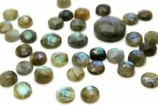 6mm Natural Labradorite Round Faceted Cabochon Gemstone Wholesale Jewelry Making