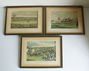 3 HORSE RACING Prints THE HIGH METTLED RACER - ASCOT HEATH - NEWMARKET RACES