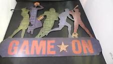 Game On Open Road Brands Metal Wall Decor Sign Childs Room Sports