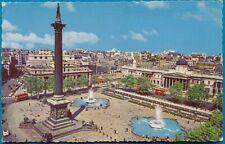 vintage ansichtkaart LONDON, Trafalgar Square and Nelson's Column