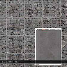 5 x SHEETS GABION RETAINING WALL N GAUGE 1:148 SCALE MODEL RAILWAY TX201