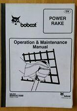 BOBCAT POWER RASTRELLO operatori manuale