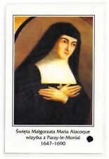HOLY CARD MARGUERITE MARIE ALACOQUE SACRED JES THIRD CLass RELIC