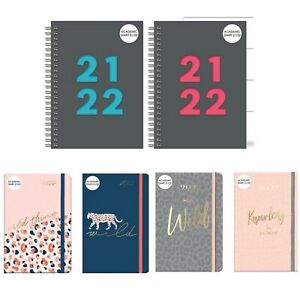 2021-2022 Academic A5 Week to View Wiro/Soft Cover Diary School Year Teacher