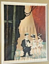 William Gropper Original Lithograph Signed Theater Stage Vaudeville Dancer Stage