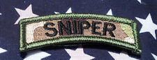 SNIPER TAB ACU TACTICAL MORALE  TAB ROCKER SNIPER TAB HOOK PATCH
