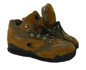 Champion Vintage 1990s 90s Women's Outdoor Olive Green Hiking Boots Size 8.5