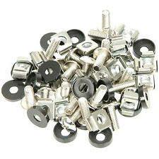 """19"""" M6 Equipment Rack Spares-Clip Nuts Bolt-Captive Cage Washer Screw Repair Kit"""