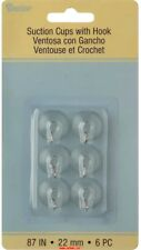Darice Small 22mm Dia Suction Cups - Clear with Silver Hooks - Pack of 6 pcs