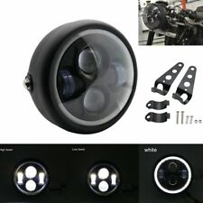 "6.5"" LED Motorcycle Headlight White Angel Eyes Halo Ring for Harley Cafe Racer"