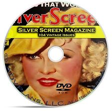 Silver Screen Magazine, 104 Issues, Classic Hollywood Movie History,  DVD CD C19