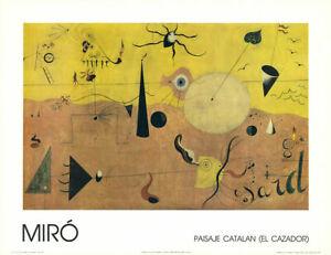 JOAN MIRO. Paysage Catalan.CARTEL LITOGRAFICO  70 X 54 CM