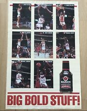 Original Vintage Chicago Bulls Michael Jordan Bull's Eye Barbecue Sauce Poster