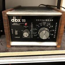 DBX 119 (like 160 161 162 vu) Stereo Compressor Limiter Or Expander