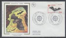 FRANCE FDC - 2417 1 EUROPA LA CHAUVE-SOURIS - PARIS 26 Avril 1986 -LUXE sur soie
