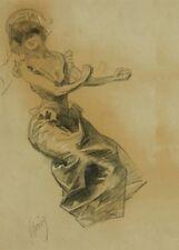 JULES CHERET Femme Assise, 250gsm Art Nouveau Belle Epoque Poster