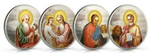 Niue 2011 $2 Orthodox Shrines - The Evangelists 4 x 1 Oz Silver Proof Coin Set