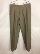 Hugo Boss Men's Pants Lightweight Silky Virgin Wool Beige Pleated 36R x 29 1/2
