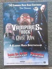Steve Steinman's Vampires Rock Ghost Train A5 tour Flyer
