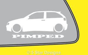 2x PIMPED Seat ibiza cupra 1.8t Mk3 outline sticker LR138