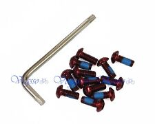 NEW ALLIGATOR DISC BRAKE ROTOR BOLTS SCREWS, SET OF 12 BOLTS + 1 TOOL, RED