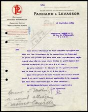█ Facture 1912 PANHARD et LEVASSOR Moteurs Voitures Automobiles Machines Outils