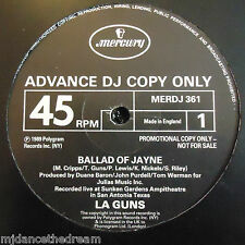 "LA GUNS ~ Ballad Of Jane ~ 12"" Single PROMO"