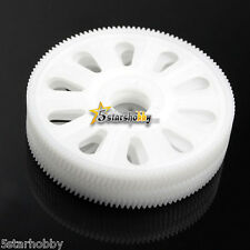 4Pcs Tarot 121T Slant Thread Main Drive Gear White for Trex T-rex 450 Helicopter