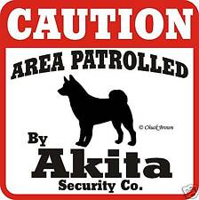 Akita Caution Dog Sign