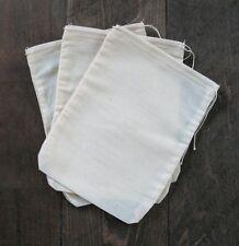 50 (3x4) inch Cotton Muslin Drawstring Bags Bath Soap Herbs