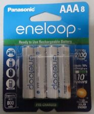 8 Pack Panasonic AAA eneloop Pre-Charged Rechargeable Batteries - 800 mAh