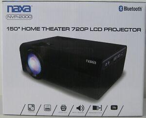 """NAXA 150"""" HOME THEATER 720P LCD PROJECTOR NVP-2000 BLUETOOTH BNIB NEW IN BOX"""
