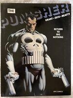 The Punisher Return To Big Nothing Hardcover W DC Marvel Graphic Novel 1989 EPIC