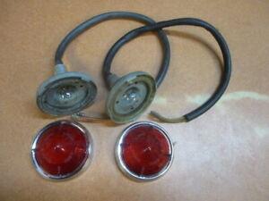 Lucas NOS L551 Pair Red Lenses, Lotus Elite, MG Magnette ZA ZB, Austin Morris
