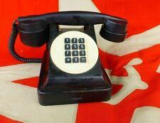 Vintage old Russian USSR bakelite metal telephone cold war era 1950s