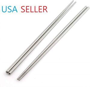 2 Pair Stainless Steel Long Chopsticks 13 inch Multi Purpose Chopsticks