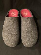 FitFlop Women's Shuv Felted Wool Clogs Mule Slip On Shoe Size 11 Gray Fit Flop